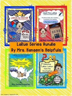 LaRue Series by Mark Teague is a great way to compare the same character and same author in a series.   https://www.teacherspayteachers.com/Product/LaRue-Series-Bundle-of-Literature-Studies-plus-Bonus-pages-1506056