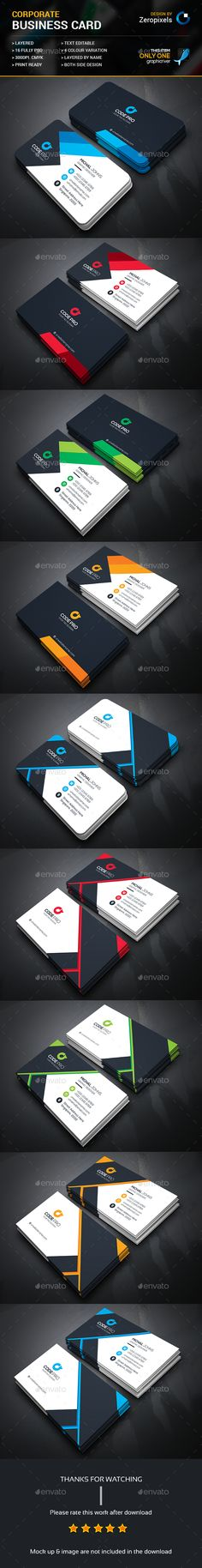 Corporate Business Card Bundle Templates PSD. Download here: http://graphicriver.net/item/corporate-business-card-bundle/16341011?ref=ksioks