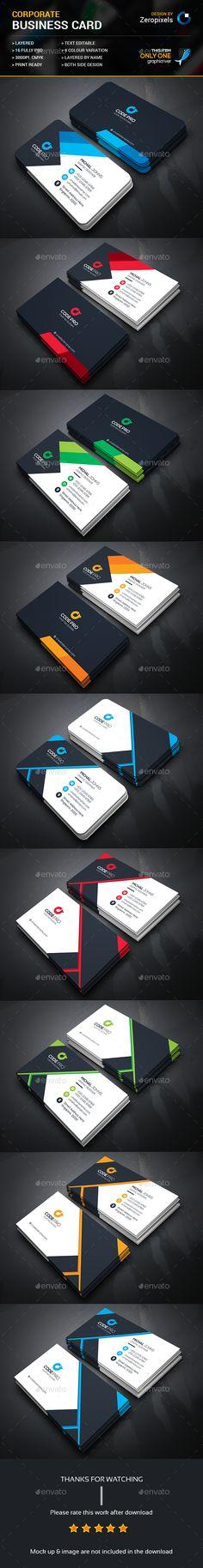Corporate Business Card Bundle Templates PSD. Download here: http://graphicriver.net/item/corporate-business-card-bundle/16341011?ref=ksioks
