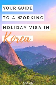 Want to go on a working holiday? Korea is a great destination to live and work abroad, with beautiful nature, delicious food, and great cities to explore, you won't be short of fun things to do. Check out our guide to obtaining a working holiday visa in this unique destination. | #digitalnomad #asia #southkorea Working Holiday Visa, Working Holidays, Travel Guides, Travel Tips, Travel Advice, Travel Destinations, Work Abroad, Digital Nomad, Asia Travel