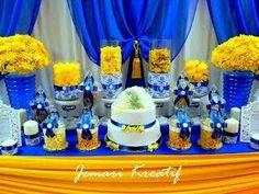 Jemari Kreatif Design Candy Buffet Royal Blue And Mustard Yellow Theme