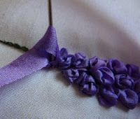 Silk Ribbon Embroidery: Tutorial - Delphiniums in Silk Ribbon Embroidery