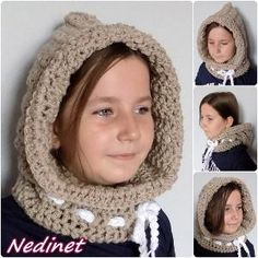 Crochet hood, Hooded cowl, Crochet hood cowl, Hooded cowl scarf, Scoodie Hooded Cowl, Hooded neckwarmer FREE shipping by NedinetCreations