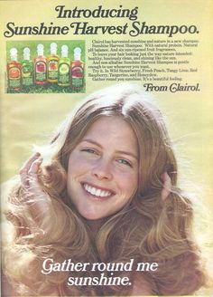 vintage summer ad | Clairol [14] has harvested all the fruits of Summer in this shampoo ad ...