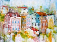 Linda Virio,Sintra ,Portugal - Collage, Acrylic and Ink