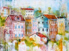 Linda Virio,Sintra ,Portugal - Collage, Acrylic and Ink