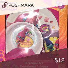 Mealtime set Trolls Plate cup and bowl zak Other