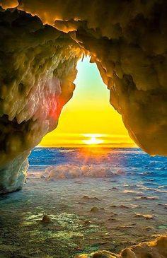 Our Golden Sun     Golden sunset  over the beach breakers     Golden  point