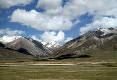 Scenery along the world's highest railway to Lhasa, Tibet in China.