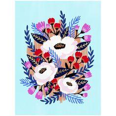 Midnight by Jess Phoenix Painting Inspiration, Art Inspo, Motif Vintage, Guache, Floral Prints, Art Prints, Plant Illustration, Posca, Arte Floral
