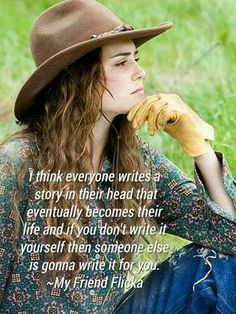 Isn't this Savannah to a T? I think this is one of the main lessons she learned - that she needs to be the one writing her half of the story. Western Quotes, Rodeo Quotes, Cowboy Quotes, Cowgirl Quote, Equestrian Quotes, Country Girl Quotes, Senior Quotes, Country Girls, Horse Sayings
