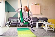 Circus Time at Ikea Ikea Kids, Ikea Children, Cool Swings, Kids Castle, Indoor Swing, Tadelakt, Childrens Beds, Kids Decor, Home Decor