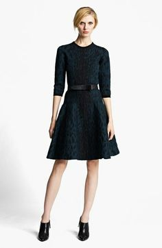 Lanvin Full Skirt Leopard Jacquard Dress available at #Nordstrom