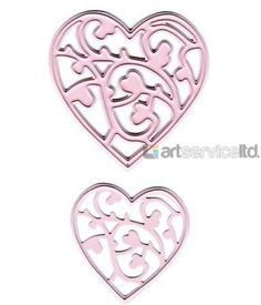Crafts Cutting and Embossing Dies - hearts-Joy Craft Cutting and Embossing Dies - hearts. 2 different sized hearts with a centre flourish design. The larger heart cuts the centre design but the smaller heart cuts out the heart shape but e Heart Cut Out, Scrapbook Supplies, Scrapbooking, Valentine Day Love, Small Heart, Flourish, Heart Shapes, Joy, Floral