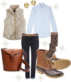 """""""Here comes a Nor'easter"""" on Polyvore #LLBEAN BOOTS #beanboots"""