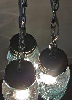 Ball Jar light fixture....fun DIY to try in the near future...