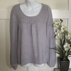 •Light Silverish Gray Sweater• In great condition• No stain or snag• Used• No Trade/PP Sweaters Crew & Scoop Necks