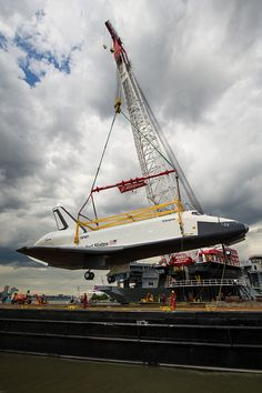 Space Shuttle Enterprise Move to Intrepid by nasa hq photo. Space Shuttle Enterprise, Starship Enterprise, Space And Astronomy, Nasa Space, Air And Space Museum, Lost In Space, Space Program, Space Travel, Space Crafts