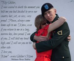 A letter from every Soldier's Mom to her Soldier. by Montana Horse Trailers