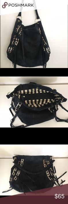 "Kelsi Dagger Black Suede ""Cameron"" Purse Awesome suede black Kelsi Dagger ""Cameron"" purse. Only used a couple times in great condition!! Kelsi Dagger Bags Hobos"