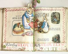 Book lover gifts for her, Decorative Cildrens Peter Rabbit, cottage decor,shabby chic decor,farmhouse decor Christmas Decor Country Decor -    Edit Listing  - Etsy
