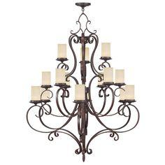 Livex Lighting Millburn Manor Imperial Bronze Chandelier 5497-58
