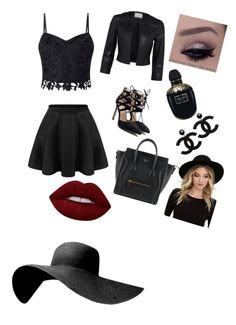 """:)"" by brigi-bognar on Polyvore featuring Lipsy, Lime Crime, Alexander McQueen and RHYTHM"