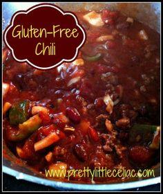 Gluten-Free Chili Recipe http://prettylittleceliac.com/2012/11/05/the-easiest-gluten-free-chili-recipe-ever/