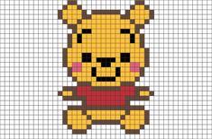 Http - //cdn - Shopify - Pooh Pixel Art Pixel Art Baby - Pixel Art Winnie The Pooh Pixel Art Simples, Easy Pixel Art, Pixel Art Grid, Pixel Pixel, Perler Bead Disney, Perler Bead Art, Perler Beads, Fuse Beads, Pixel Art Animals