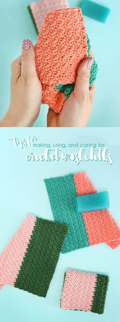 how to make crochet washcloths - all the tips you need for crocheting, using, and caring for crochet washcloths