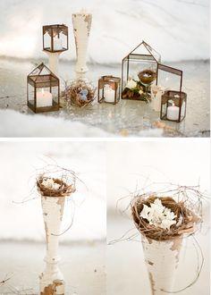 Un toque rústico y delicado para tu decoración #wedding