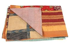Hand-Stitched Kantha Throw, Tori on OneKingsLane.com