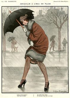 umbrellas.quenalbertini: Deco french magazine cover | The Advertising Archives on Fine Art America