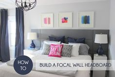 DIY Focal Wall Headboard, how to build a headboard, how to build a focal wall headboard, focal wall headboard, DIY Tufted Headboard, DIY Tufted Panel Headboard, DIY Panel Headboard, How to build a panel headboard, how to build a tufted headboard, look for less design challenge, design challenge, how to get the look for less