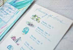 Behind the Scenes – Watercolor Welcome Bag in Destination Weddings and Honeymoons Magazine