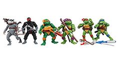 TL Newest Pattern Teenage Mutant Ninja Turtles Action Figures Tmnt One Set of 6 PVC Dolls Leo Mikey Don Raph for Collector 12cm
