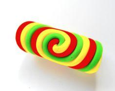 Rasta Colors 9mm Dreadlock Bead Spiral Dread Bead Dreadlock Jewelry Perle Dread Rastafarian