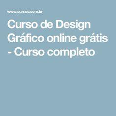 Curso de Design Gráfico online grátis - Curso completo