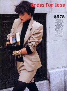 'Dress For Less' from……….Vogue November 1989 feat Marielle MacVille *Love this outfit!