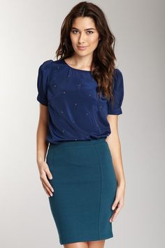 Willow & Clay Star Stud Puff Sleeve Top 22.00