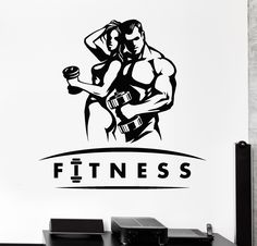 Vinyl Wall Decal Gym Sports Health Beautiful Body Fitness Coach Unique Gift Vinyl Wall Decal Gym Sports Health Beautiful Body Fitness Trainer Unique Giftstoff Adesivo in vinile Palestra Sportart Salute Bella Body Fitne. Outfit Gym, Outfit Jeans, Fitness Logo, Body Fitness, Fitness Posters, Logos Gym, Gym Logo, Dojo, Gym Video