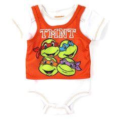 Teenage Mutant Ninja Turtles Newborn Baby's TMNT Onesie