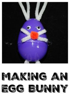 Want to make an easy Easter craft with the kids? Make a Simple Egg Bunny Craft  Easter crafts for kids