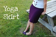 {Tutorial} Yoga Skirt | Sew Woodsy This is the *exact* skirt I have been wanting to replicate. Bestest best skirt in the world!