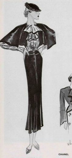 Chanel 1934. 1930s Fashion, Chanel Fashion, French Fashion, Retro Fashion, Vintage Fashion, High Fashion, Coco Chanel, Chanel Vintage, Chanel Dress