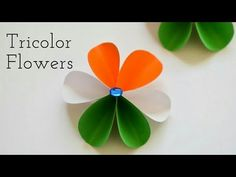 How to make Tricolor Independence / Republic Day Paper Flower Independence Day Activities, Independence Day Decoration, Paper Flowers For Kids, India Crafts, Creative Activities For Kids, Diy Friendship Bracelets Patterns, Christmas Card Crafts, Paper Flower Tutorial, Republic Day