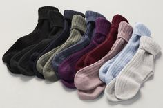 Every girl should experience the warmth and comfort of cashmere socks.