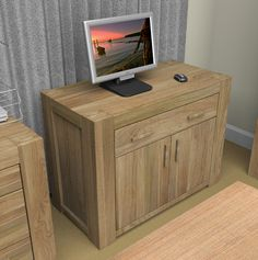 This highly innovative home office is the ideal solution for limited spaces. When closed, the desk looks like any other stylish cabinet, hiding computer equipment and taking up minimal space in the home. The true beauty however, is when the workstation opens out to reveal a brilliantly designed home office set-up with individual slots for all your necessities. Only £745.