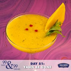 Yawn Be Gone! #bacardimixers99 #rum #cocktail #drink #mango #sriracha #tarragon