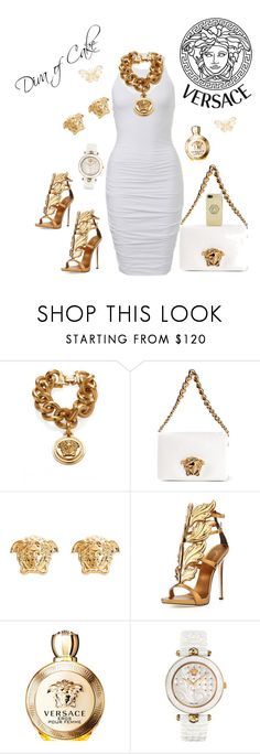 """""""Elegant White and Gold outfit  Versace"""" by Diva of Cake  featuring Versace and Giuseppe Zanotti"""